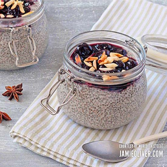 Overnight Chia Seed Pudding with Cherries