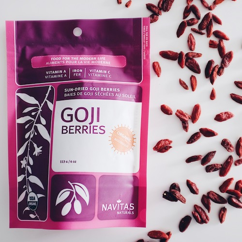 Navitas Goji Berries Nic's Picks, Nicole Porter Wellness, healthy food and snacks