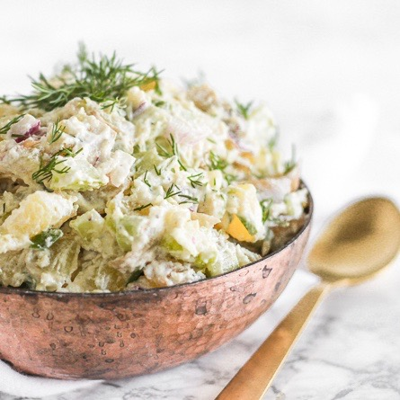 healthy dill potato salad summer recipe Nicole porter wellness